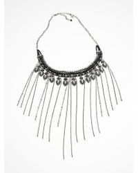 Free People Ball Chain Fringe Collar - Lyst