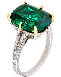 Carat* | Fancy Emerald Ring | Lyst