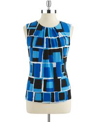 Calvin Klein Plus Patterned Cowlneck Shell - Lyst