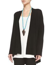 Eileen Fisher Long Knit High-low Cardigan - Lyst