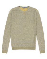 Ted Baker Tonebag Stripe Crew Neck Jumper - Lyst
