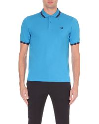 Fred Perry Slim-Fit Twin-Tipped Cotton-Piqué Polo Shirt - For Men - Lyst