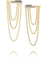 Jemma Wynne 18-karat Gold Diamond Earrings - Lyst