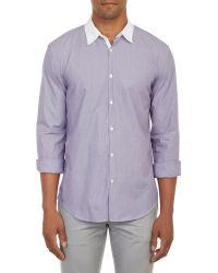 John Varvatos Contrast Collar Shirt - Lyst