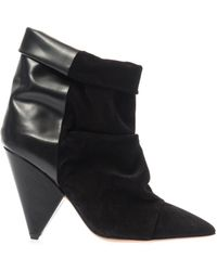 Isabel Marant Andrew Leather Ankle Boots - Lyst