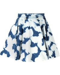 Fausto Puglisi Tie-Dye Flared Skirt - Lyst