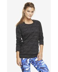 Express Exp Core Cut-out Back Marled Sweatshirt - Lyst