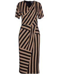 Just Cavalli Knee-Length Dress beige - Lyst