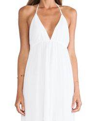 Alice + Olivia Mcbain Halter Maxi Dress - Lyst