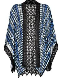 Anna Sui Printed Kimono with Crochet Trim Stylebopcom Exclusive - Lyst