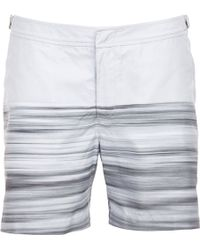 Orlebar Brown Horizontal Stripe Bulldog Swim Shorts - Lyst