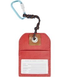Marc By Marc Jacobs - Red Nyc Leather Luggage Tag - Lyst