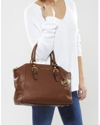 Michael Kors Bedford Satchel Bag - Lyst