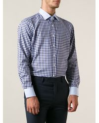 Etro Check Print Shirt - Lyst