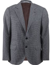 Brunello Cucinelli Check Suit Jacket - Lyst