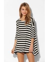 BDG Boatneck Tunic Tee - Lyst