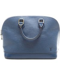 Louis Vuitton Preowned Blue Epi Leather Alma Bag - Lyst
