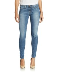 J Brand Mid-rise Pieced Skinny Jeans - Lyst