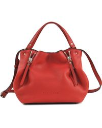 Burberry Sm Maidstone Brit Leather Bag - Lyst