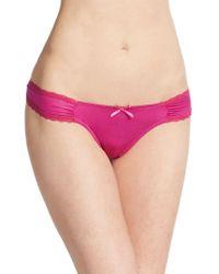 Catherine Malandrino Sweetheart Lace-Trim Bikini pink - Lyst