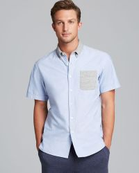 Todd Snyder + Champion Short Sleeve Oxford Sport Shirt Slim Fit - Lyst