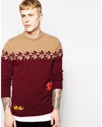 Lyle & Scott Lyle & Scott By Universal Works Sweater With Snowflake - Lyst
