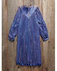 Free People Vintage Striped Gauze Dress - Lyst