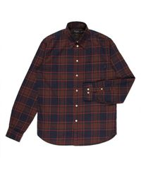 Paul Smith Navy Plaid Brushed-Cotton Shirt multicolor - Lyst
