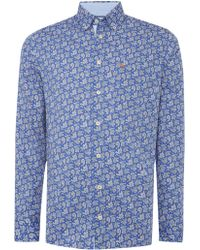 Magee - Floral Tailored Fit Long Sleeve Shirt - Lyst