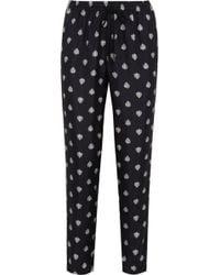Iris & Ink - Arianne Heartprint Silktwill Pyjama Trousers - Lyst
