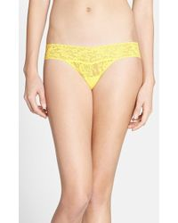 Hanky Panky 'Signature Lace' Low Rise Thong - Lyst