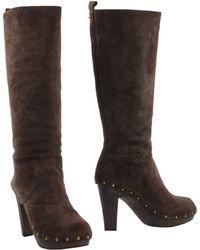 D&G Brown Boots - Lyst