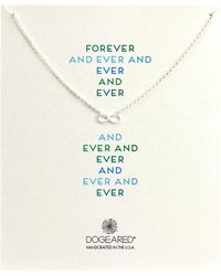Dogeared Forever and Ever Infinity Whisper Necklace - Lyst