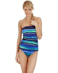 Tommy Bahama Water Waves Bandeau One Piece Swimsuit - Lyst