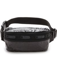 LeSportsac - Double Zip Belt Bag - Leatherette Snake - Lyst