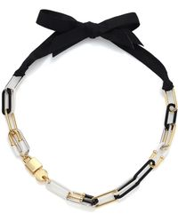 Marc By Marc Jacobs Padlock & Key Bubble Link Necklace - Lyst