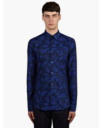 Kenzo Mens Blue Mechanical Monster Slimfit Shirt - Lyst