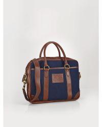 Polo Ralph Lauren Leather-Trim Commuter Bag - Lyst