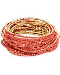 ABS By Allen Schwartz - Pop Of Colour Faceted Stretch Bracelets/set Of 20 - Lyst