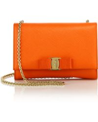 Ferragamo | Miss Vara Mini Saffiano Leather Crossbody Bag | Lyst