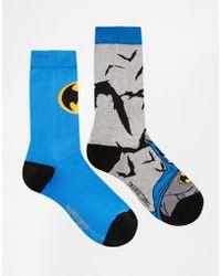 Asos 2 Pack Socks with Batman Design - Lyst