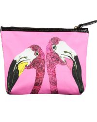 Jessica Russell Flint - Loved Up Flamingo Make Up Bag - Lyst