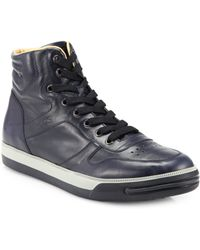 Tod's Leather Hightop Sneakers - Lyst