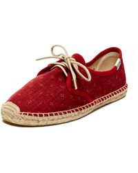 Soludos Lil Crosses Lace Up Espadrille Flat - Lyst