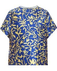 Peter Pilotto Os Leaf Printed Top - Lyst