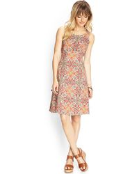 Forever 21 Tribal Print Empire Dress - Lyst