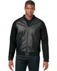 Calvin Klein Ultra Slim Fit Wool Blend Baseball Jacket - Lyst