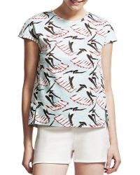 Carolina Herrera Swimming Ladies Shortsleeve Tee - Lyst
