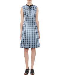 Derek Lam Plaid Tweed Sleeveless Dress - Lyst