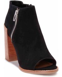 Dv By Dolce Vita Mercy Suede Opentoe Ankle Boots - Lyst